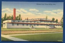 Camp McCoy Wisconsin wi Officer's Club linen postcard