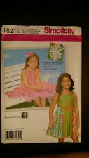 SIMPLICITY CHILDS DRESS & UNDERSKIRT PATTERN 1821 SIZE 3-8