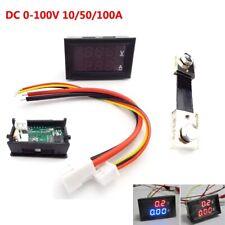 10/50/100A Voltmeter Ammeter LED Dual Digital Volt Amp Meter Test Tester Gauge
