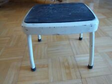 Vintage COSCO Mid-Century 50s Step Stool Rubber Top Off White