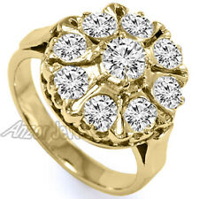 Diamond Russian style ring#R2082 14K Solid Yellow Gold Genuine