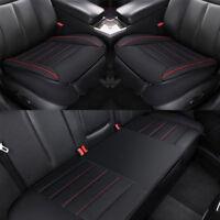 Universal Auto Sitzauflage Sitzbezüge Sitzkissen Sitzmatte Set PU Leder Schwarz