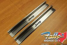 2007-2018 Jeep Wrangler JK 2 Door Stainless Steel Sill Guards w/ Logo Mopar OEM