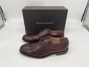 Banana Republic Liam Burgundy Mens Shoes Size 9 BNIB NEW.