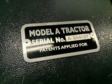JOHN DEERE MODEL A HIGH QUALITY ALUMINUM A SERIAL NUMBER TAG PLATE