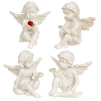 1 x Collectable Cherub Sitting Holding Mineral Stone Figures Angel Ornament