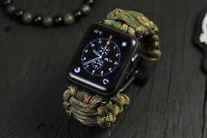 Handmade Paracord Watch Band fits Apple Watch Series 6 5 4-1 Strap 44/42mm40/38m
