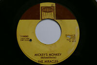 """THE MIRACLES - MICKEY'S MONKEY - RARE 7"""" NORTHERN SOUL US TAMLA T-54083 VG"""