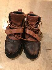 Ralph Lauren Polo Leather Winter Boots Mens Sz 8D