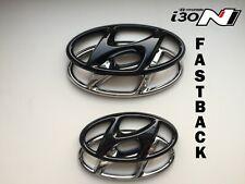 Hyundai i30N FASTBACK Set Cover Emblem hochglanz–schwarz blacked out Badge