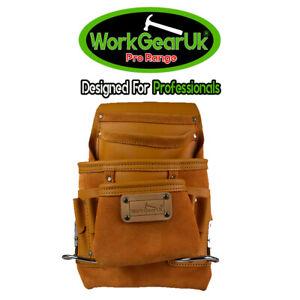 Tool Pouch 10 Pocket Heavy Duty Split Leather WG-PX22 Work Gear UK