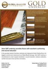 3mm Gold Underlay for laminate, bamboo, engineered floors