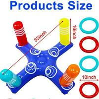Swimming pool fun toys Children and adults inflatable cross ring toss game Nice
