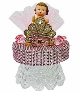 Baby Shower Happy Birthday Princess Girl or Prince Boy Cake Topper Centerpiece