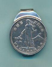*Philippine 1 Peso Sterling Silver Money Clip ›New‹-Closeout*