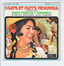 """Hugo PAMCOS Y VERONICA Disque 45T 7"""" EP HARPE FLUTE INDIENNE Amérique Sud RARE"""