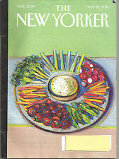 New Yorker Magazine - November 22, 2010 - The Food Issue; E.L. Doctorow