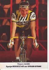CYCLISME carte cycliste THIERRY MARIE équipe RENAULT ELF 1985
