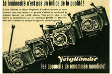 Publicité ancienne appareil photo Voigtländer no 3 1942  issue de magazine