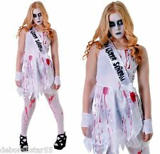 Zombie Bloody Dead Prom Queen Carrie Halloween Fancy Dress Costume 12-14 years