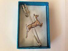 "Deer WLDEEP kilt pin Scarf / Brooch pin pewter emblem 3"" 7.5 cm"
