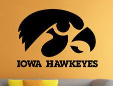 Iowa Hawkeyes Wall Vinyl Decal Sticker Art Sport Home Decor NCAA Football Emblem