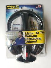 My Zone Wireless TV Headphones Model 5274 Brand New Factory Sealed