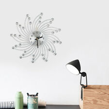 Moderne Wanduhr Küchenuhr Bürouhr Quartz Küchen Wohnzimmer Uhr Silber Eisen LI A