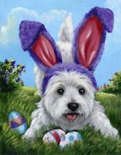 "Precious Pets Garden Flag - Westie Egg Hunt 12"" x 18"" ~ Charity!"