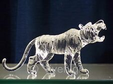 TIGER Figurine@CRYSTAL Glass BEAST@UNIQUE Collectable Gift@Wild Jungle Animal