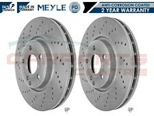 FOR MERCEDES CLS 220 250CDI FRONT MEYLE PD DRILLED COATED BRAKE DISC DISCS 322mm