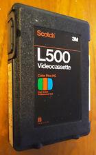 L500 Scotch 3M Color Plus HG Hard Plastic BOX with BETA Video Cassette Tape