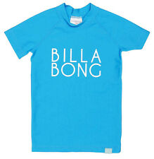 """NEW +TAG BILLABONG GIRLS (3) WET SHIRT RASHIE RASH VEST """"SUNNY DAYZ"""" BLUE S/SLV"""