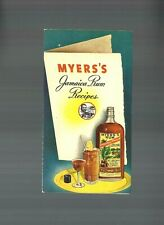 1940's Myers'S Jamaica Rum Vgc Cocktail Recipe Booklet