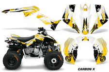 ATV Graphics Kit Quad Decal Sticker Wrap For Can-Am DS90 2007-2018 CARBONX YLLW