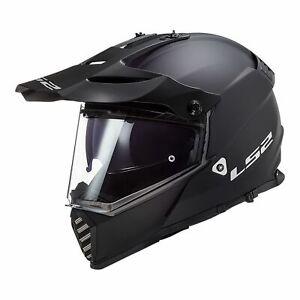 LS2 MX436 PIONEER EVO ADVENTURE MOTORCYCLE HELMET - MATTE BLACK LARGE