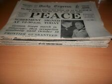 Lot Collection 29 WW2 WW II Newspapers Hitler Churchill St Paul'S Cathedral