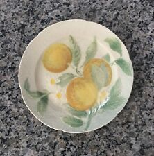 "ST CLEMENT France Fruit Design Plate - 8.5"" - Oranges with Blossoms"