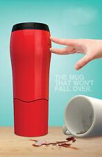 Red  New 540ml No Spill Design Leak Proof Lid Mighty Mug Travel Mug