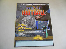 STREET FOOTBALL  folded   ARCADE GAME  FLYER    CFA
