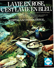 PUBLICITE ADVERTISING  016  1981  Camping Gaz International  réchaud 2 feux