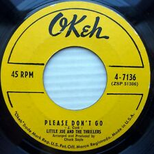 LITTLE JOE and the THRILLERS doowop VG+ Okeh 45 PLEASE DON'T GO / STAY DM1081