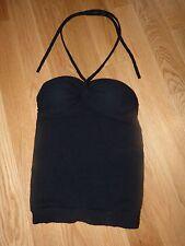 Catherine Malandrino Sexy Black Cashmere Wrap Around Neck Size P