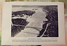 Ancienne Planche 1922 Les Chutes du Niagara Ontario le lac