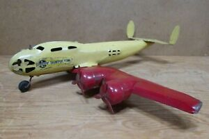 "1940s BUDDY L TRANSPORT PLANE No. 603, Pressed Steel Airplane, 27"" Wingspan"