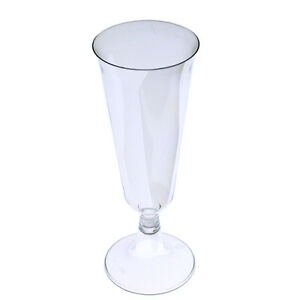 WEDDING, PARTY Plastic Champagne Flute Glasses Wine Cups - 60, 144, 288 count