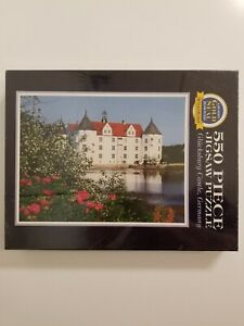 "Gold Seal 550 Piece Jigsaw Puzzle By Bits & Pieces ""Glucksburg Castle Germany"""