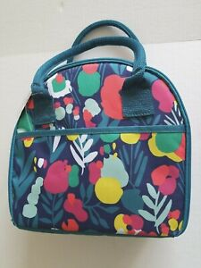 Fit & Fresh Insulated Green Zip closure with 3 Containers Lunch Bag Cooler