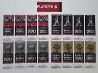 Toronto Raptors Unused Playoff Tickets -  Full Playoff Set - 16 Home Games