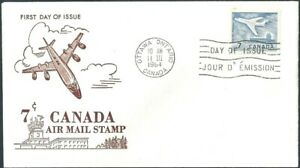 Canada   # 414   AIR MAIL  JET PLANE OTTAWA     Fine New 1994 Unaddressed Issue